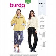 6371 Burda Pattern: Ladies Stretch Knit Trousers